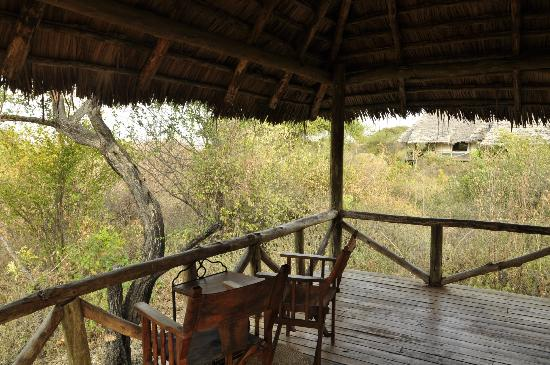 Lake Burunge Tented Camp: the porch of the tent