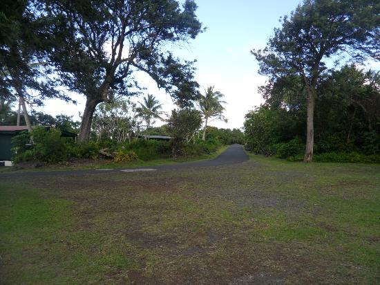 Waianapanapa State Park Cabins: road to cabins