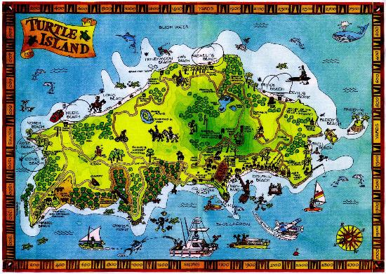 Turtle Island Map with Private Beaches for all Guests - Picture of ...