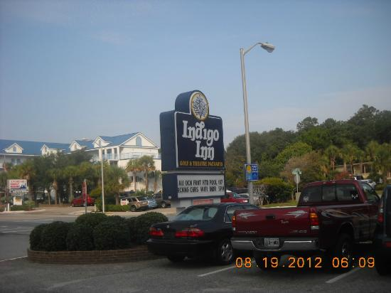 Indigo Inn: Hotel sign