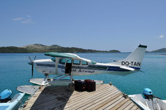 Turtle Island Resort: Sea Airplane that lands on Ocean