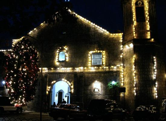Maasin Cathedral from outside, Christmas