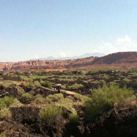 The Inn at Entrada: Lava fields section of golf course