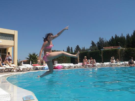 Olympion Village: poolside fun!