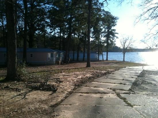 McComb, MS: grounds in winter time new cabins