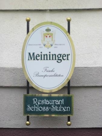 Schlossstuben: Serving the local beer