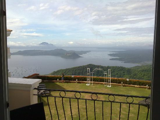 The Lake Hotel Tagaytay: Awesome view from our room across Lake Taal