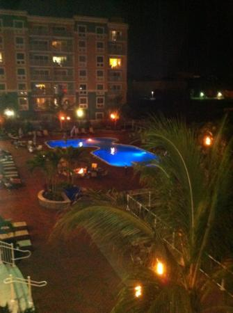 Hampton Inn & Suites Ocean City: pool from balcony