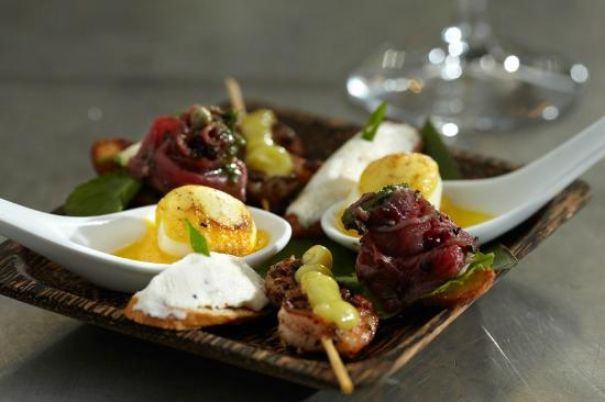 Heritage Restaurant: A selection of Chef Vibol's tasty canapés