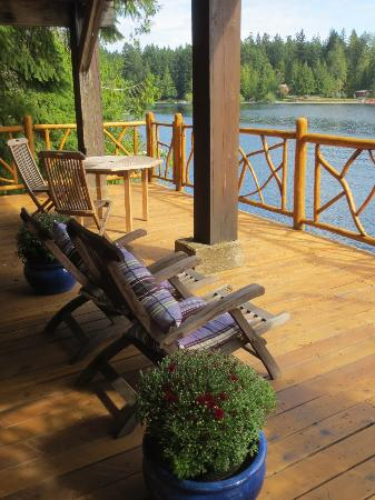 Dragonfly Dock Bed and Breakfast: View from one of the terraces. Our favorite place!