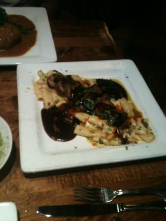 The Spotted Donkey Cantina : pork and pasta dish