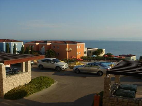 Rezidecija Skiper: Balkonblick in die Bucht von Triest