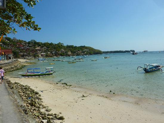 View from Bali Diving Academy Dive Shop in Lembongan