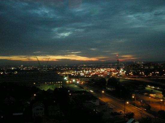 Sheraton Pentagon City Hotel: クラブルームからペンタゴンを望む