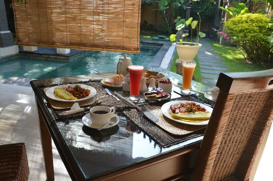 The Buah Bali Villas: The perfect place to start your day.