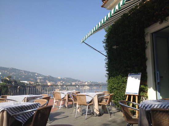 La Terrazza: come for morning coffee and croissant