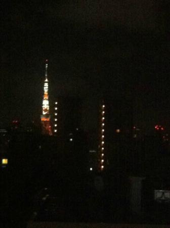 APA Hotel Nishi Azabu : Tokyo Tower view at iPhone maximum zoom