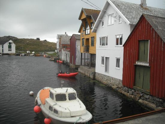 Utsira: Houses in the north harbour