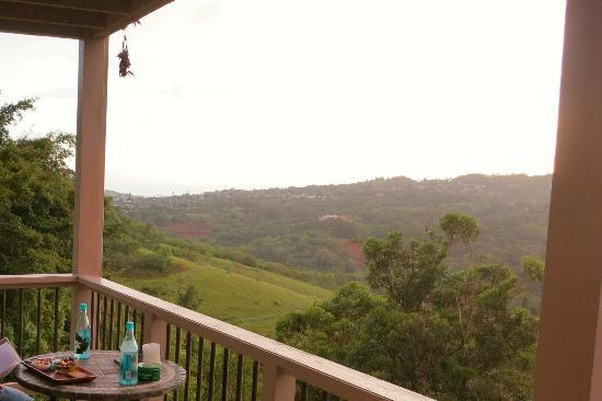 Marjorie's Kauai Inn: Blick von unserem Lanai