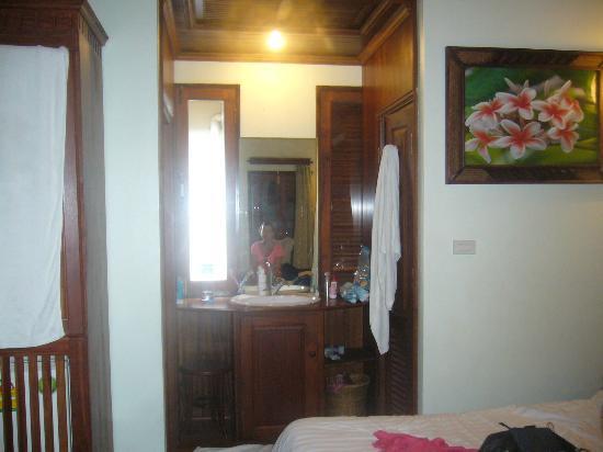 Villa Pumalin: coté salle de bains