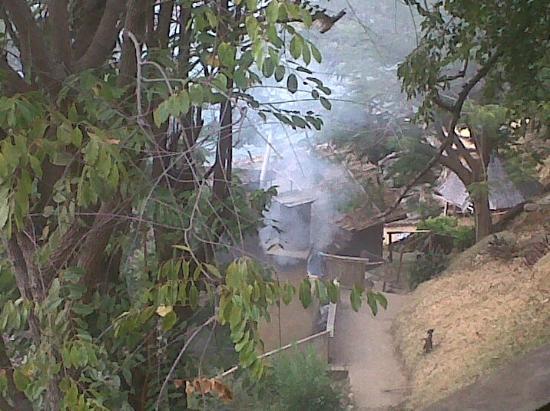 Mayoka Village: toilet warming water fire smoke enters your room...