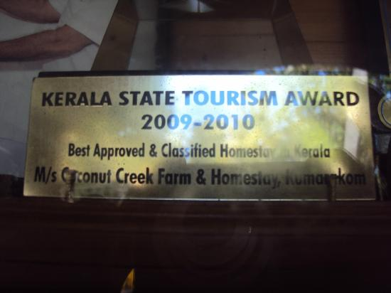 Coconut Creek Farm and Homestay Kumarakom: Award Best Homestay