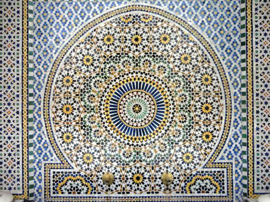 """Riad Safar : """"Patio"""" du riad, belle mosaïque"""