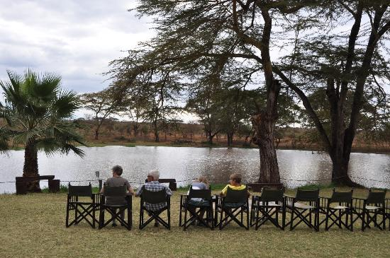 Voyager Ziwani, Tsavo West: View to the lake
