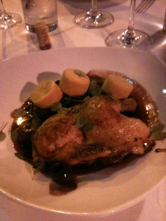 Gitane : delicious duck with cherries and polenta, best dish in San Fran!