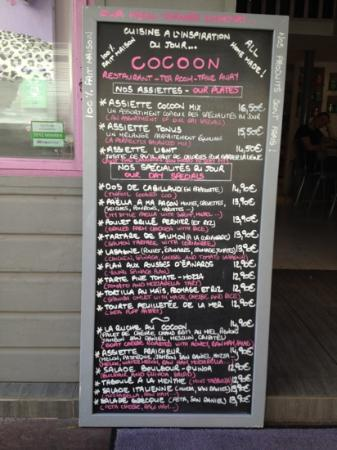 Cocoon: menu