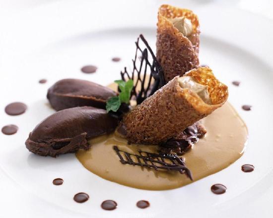Plated Dessert Crepe Cake