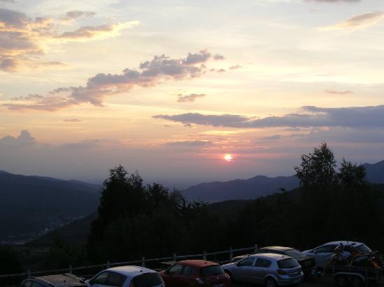 Auberge Obersolberg : Sonneraufgang überm Rheintal