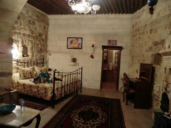 Assiana House: View from door towards the bathroom 