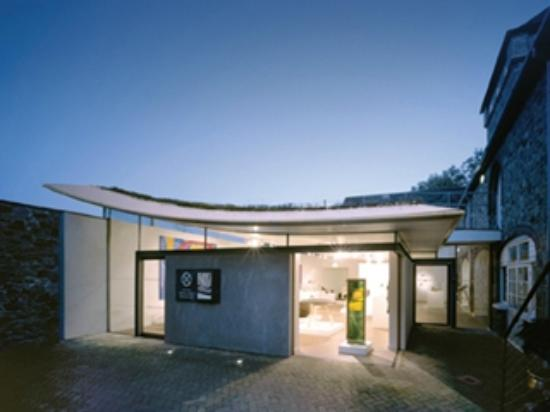 Devon Guild of Craftsmen: An evening view into our contemporary gallery space at the Guild
