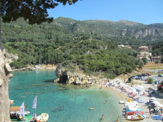 The Turquoise Sea Picture Of Paleokastritsa Beach Paleokastritsa Tripadvisor
