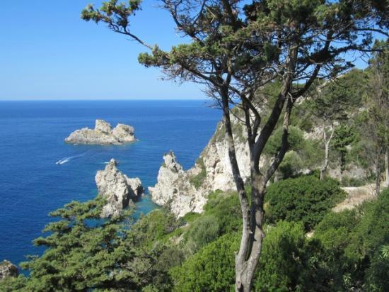 Paleokastritsa Beach: sea view