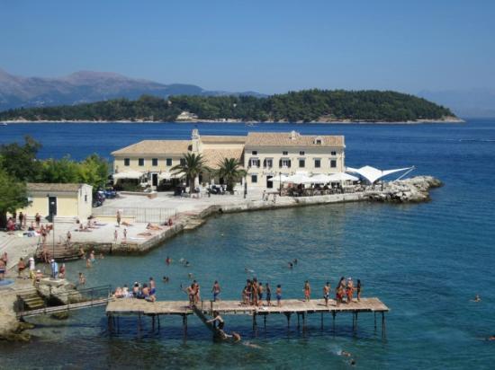 Paleokastritsa Beach: Corfu Town sea view