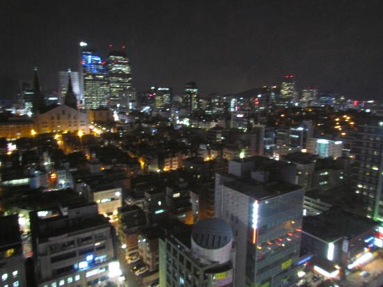 Seoul Stars Hotel : night view from the room