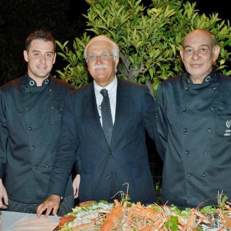 antica macina rosolini chef marina giovanni e azzaro bruno ospite d'onore prof.calabrese