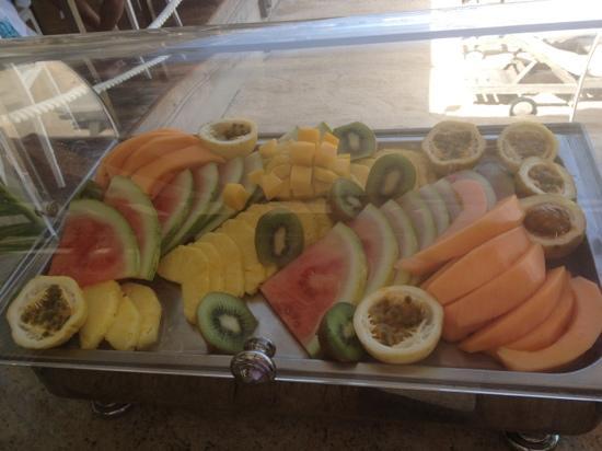 Eden Rock - St Barths: Choix de fruits au petit déjeuner