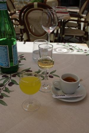 Ristorante Podere Le Vigne: There's always room for locally made grappa and limoncello