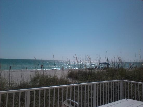 White Sands Beach Resort: view from front patio