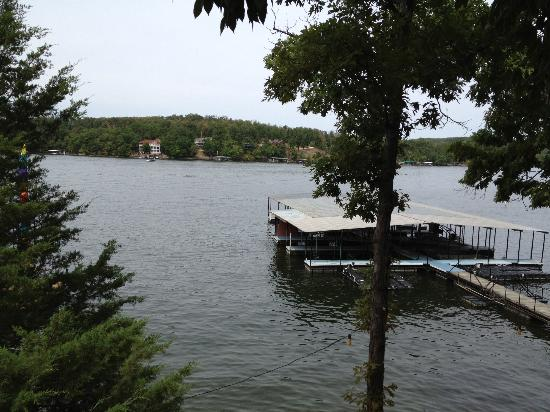 Breezy Point Resort: view from deck of cabin