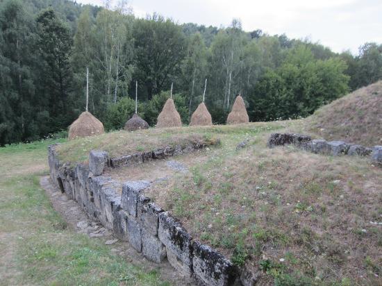 Dacian Fortresses of the Orastie Mountains: Cetatea Blidaru : mur d'enceinte