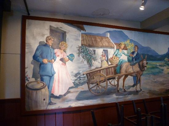 Mural in the back room picture of liam maguire 39 s irish for Abri mural cape cod