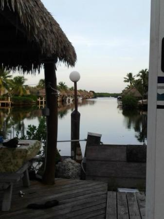 Key Largo Kampground and Marina: View from one of the RVs' water front site