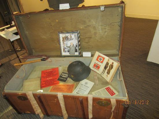 Dallas Holocaust Museum: a soldier original foot locker.