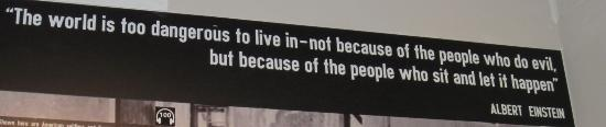 Dallas Holocaust and Human Rights Museum: says so much.........