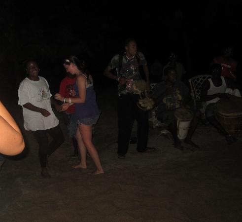 A local drumming group came to Coconut Row. We all danced.