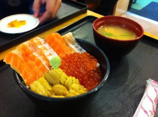 Otaru, Japan: fresh sashimi